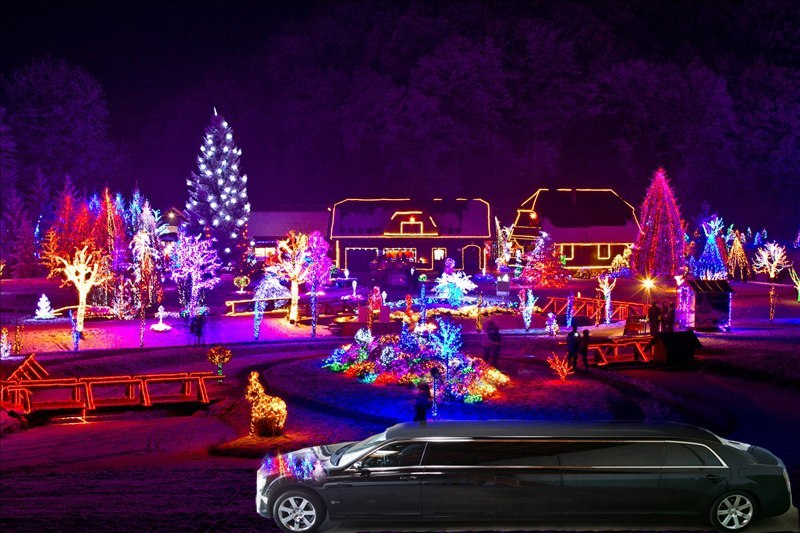 Fort Worth Christmas Lights Tours, Limo, Limousine, Sedan, Van, SUV, Party Bus, Shuttle, Charter, Spirit, Holiday, Trail of Lights, Santa, Dallas, December Nights