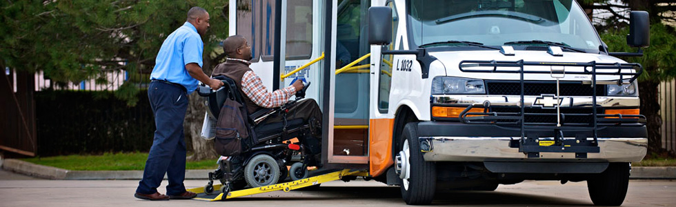 Fort Worth Handicap ADA Transportation Services, vans, shuttle, bus, one way, hourly, wheelchair, assisted, day care, special needs, senior, Wedding, Birthday, Corporate, Funeral